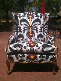 Am told that my job tomorrow is to learn how to re-upholster furniture.  sigh. Accent Chair - Pepper. $925.00, via Etsy.