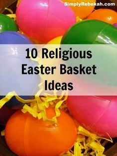 10 Religious Easter Basket Ideas - Add some extra meaning to your Easter baskets this year with these Christian gift ideas.