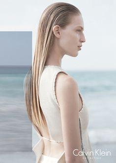 Clark Bockelman, Vanessa Axente by David Sims for Calvin Klein Collection Spring Summer 2015 3