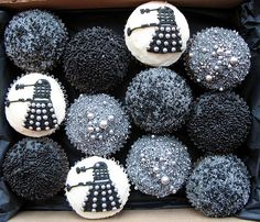 Dr Who cupcakes by Crumbs and Doilies, via Flickr