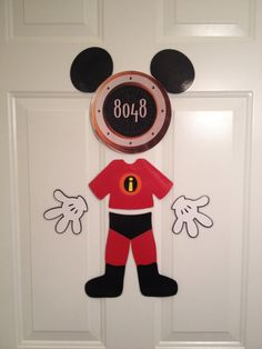 The Incredible Costume Mickey Mouse Body Part Stateroom Door Magnets for Disney Cruise