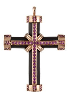 SAZINGG Wood and Ruby Cross Pendant #sazingg #gifts #holidays