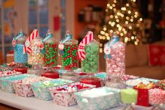 Candy jars for gingerbread house decorating