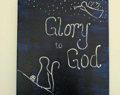 Glorie aan God Canvas schilderij