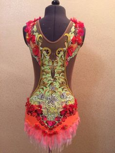 Competition Rhythmic Gymnastic Leotard SOLD от DaivaDesignStudio