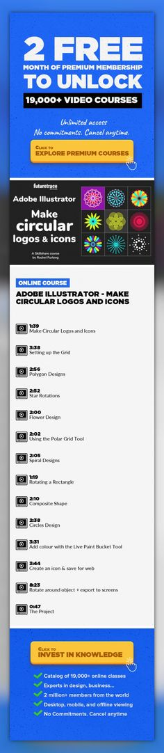 Adobe Illustrator - Make Circular Logos and Icons Logo Design, Digital Illustration, Adobe Illustrator, Icon Design, Graphic Design, Creative, Vector Graphics, Design Skills, Design Patterns #onlinecourses #skillspreschool #onlinelearningillustration   Each lesson in my class Adobe illustrator class 'Make Circular Logos and Icons', teaches you a small number of techniques and will give you the op...