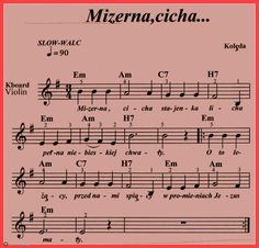 Mizerna,cicha-stajenka licha. Ukulele, Violin, Workout Music, Piano, Sheet Music, Christmas, Strong, Yule, Navidad