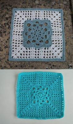 Sunshine Jewel 12-inch filet square, free pattern. A lot of different looks, depending on color choices - see pics on Ravelry Project Gallery. #crochet #square #motif #filet_crochet