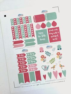 MsWenduhh Planning & Printing: Decorating with the Free May Kit Stickers in my Erin Condren Planner. {sign up for the newsletter to receive the free printable}