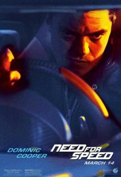 Poster de Need For Speed con Dominic Cooper