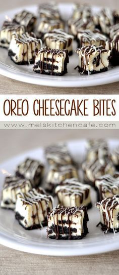 Oreo Cheesecake Bites These Oreo cheesecake bites are like little bites of heaven. Cheesecake Bites – Food RPuff pastry bites from deThe BEST No-Bake Oreo Che Brownie Desserts, Easy Desserts, Delicious Desserts, Yummy Food, Bite Sized Desserts, Cheesecake Desserts, Healthy Food, Raspberry Cheesecake, Desserts With Oreos