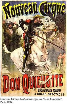 ADVERTISING SIGNS OF QUIJOTE Buffonerie Equestre Don Quichotte