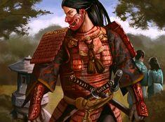 Bayushi Manami (citation required).  Scorpion Bushi wearing a Mempo (face mask).