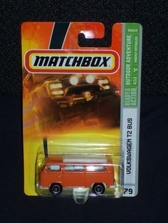 Matchbox 2008 Outdoor Adventure Series #4 of 12 Volkswagen VW T2 Bus Collector Number 79 by Mattel. $12.41. Lug Wheels. Detailed Diecast. Value Collector. Matchbox 2008 Outdoor Adventure Series #4 of 12 Volkswagen VW T2 Bus Collector Number 79