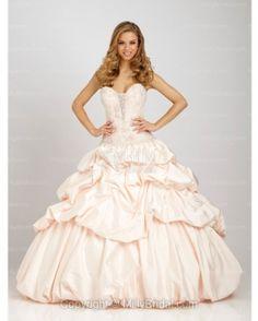 BallGown Sweetheart Taffeta Floor-length Pearl Pink Quinceanera Dress
