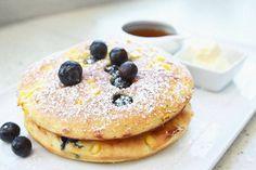 Blueberry Corn Pancake off the Brunch Menu