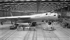 B-36 on jacks, no idea why.