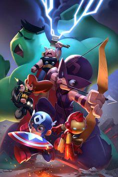 Avengers GO! by cheeks-74 on @DeviantArt