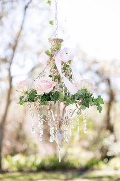 Garden wedding decorations - Garden Wedding :Coral and Raspberry Wedding Colours Palette Lustre Floral, Lustre Rose, Raspberry Wedding Color, Garden Bridal Showers, Garden Shower, Floral Chandelier, Outdoor Chandelier, Spring Garden, Wedding Colors