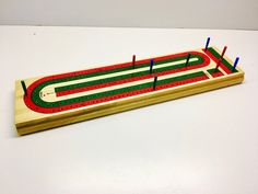 Vintage Cribbage Game, Multiple Player Cribbage Game Board and Pegs. by vintagetoolbox on Etsy