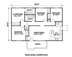 2 Bedroom House Plans 1000 Square Feet Home Plans Homepw26841 1 200 Square Feet 3 Bedroom 2