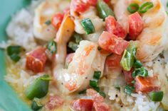 Coconut Curry Shrimp with Coconut Rice Recipe. Only takes 20 minutes to prepare and the #spice level is perfect for kids!
