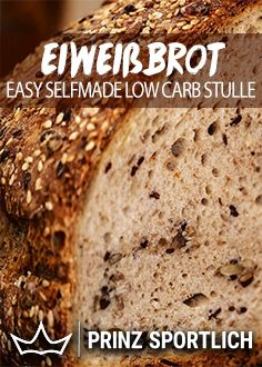 Eiweißbrot: So einfach backt ihr eigene Low Carb Stullen You love bread but do not want to, because there are too many carbs and too little protein in it? Just make your own protein bread yourself. The easy recipe is on my website! Ketogenic Diet Breakfast, Ketogenic Diet Food List, Paleo Breakfast, Protein Desserts, Protein Foods, Protein Recipes, Detox Recipes, Low Carb Recipes, Menu Dieta Paleo