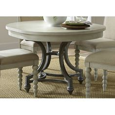 "Dining Room Table Pads Reviews Beauteous 60"" Round Dining Set With Leaf  Sophiarounddiningtableround Inspiration Design"