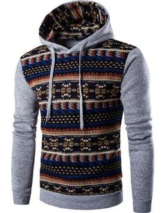 2016 Hoodies Mens Hombre Hip Hop Male Brand Hoodie Fashion Geometric Print Sweatshirt Suit Men Slim Fit Men Hoody XXL EYRV