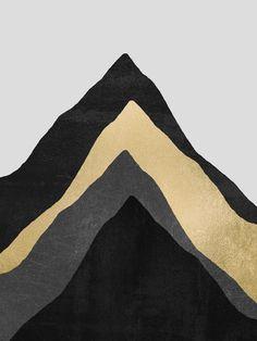 Four Mountains Art Print by Elisabeth Fredriksson