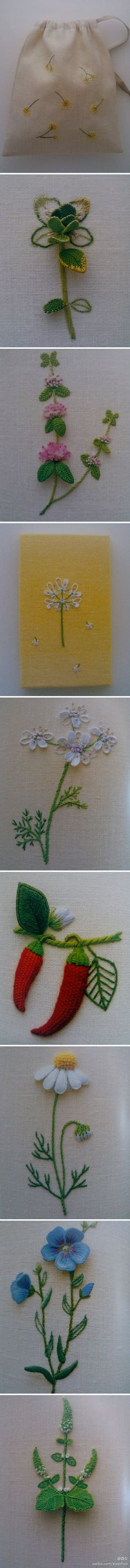 great flower embroidery