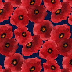 Poppy_tile fabric by emilyclaire on Spoonflower - custom fabric