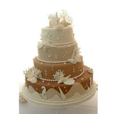 Beach Wedding Cakes (Source: wedding-flowers-and-reception-ideas.com)