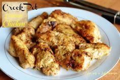 Crock Pot Lemon Chicken {Weekend Potluck}