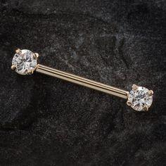 14 GA Spring Blossom Flower Nipple Barbell Ring 316L Stainless Steel Body Piercing Jewelry For Women Davana Enterprises Sold by Pair