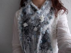 RESERVED for Tanja...Light Gray Scarf, Black,White,Gray Hand Knit Scarf,Winter Fashion,Perfect Christmas Gift,Rustic Gray Cozy Chanky Scarf