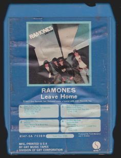 Vintage RAMONES Leave Home STEREO 8-TRACK TAPE 1977 SA-7528-H 8 Track Tapes, Girls Time, Ramones, Casket, Punk Rock, Good Music, Culture, Vintage, Pictures