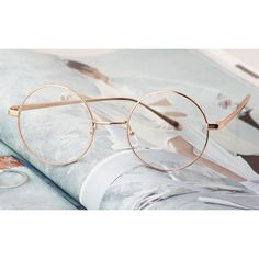 Details about Vintage Round oliver retro eyeglasses gold frames kpop peoples find - Best Accessories 😍 Circle Glasses, Cute Glasses, New Glasses, Glasses Frames, Round Gold Frame Glasses, Kpop, Lunette Style, Fashion Eye Glasses, Four Eyes