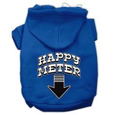 Happy Meter Screen Printed Dog Pet Hoodies Blue Size XL (16)
