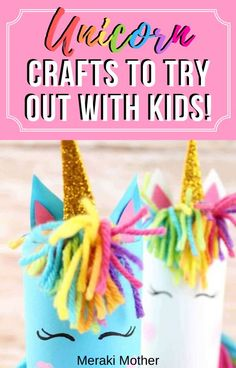 This unicorn craft is the perfect isolation craft activity to try out if you've got a unicorn obsessed kid stuck at home! #unicorn #craftsforkids #artsandcraftsforkids #activitiesforkids #isolationactivities #unicorncrafts Craft Projects For Kids, Diy Crafts For Kids, Kids Diy, Project Ideas, Art Projects, Kids Activities At Home, Craft Activities, Indoor Crafts, Unicorn Crafts