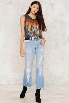 Vintage Wrangler Free Rein Distressed Jeans - Vintage