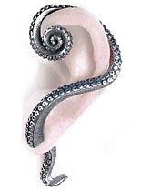 Kraken Tentacle Wrap Earring