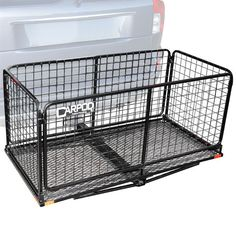 The versatile Carpod cargo carrier basket provides you with 13-1/4 cubic ft of storage space on your vehicle's Class III or IV hitch. Folded mesh sides keep your gear inside.