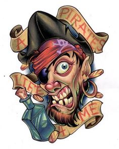 A pirates life 4 me Pirate Boats, Places For Tattoos, Pirate Life, Disney Marvel, Art Graphique, I Tattoo, Underwater, Tattoo Designs, Cartoon
