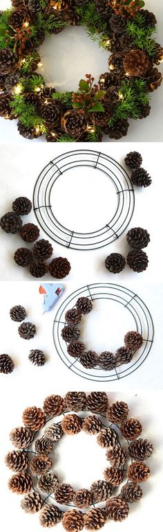 Check out the tutorial on how to make a DIY pinecone fall wreath @istandarddesign