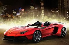 Lamborghini Aventador J - they've made ONE of these...