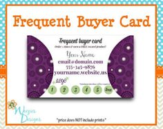 Mary Kay Frequent Buyer Card Business Card by WeeziesDesigns