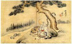 (Korea) 송암복호 by Jeong Seon (1676- 1759). ca 18th century CE. color on paper. 51.5×31cm. Gansong gallery, Korea. 송암복호도.