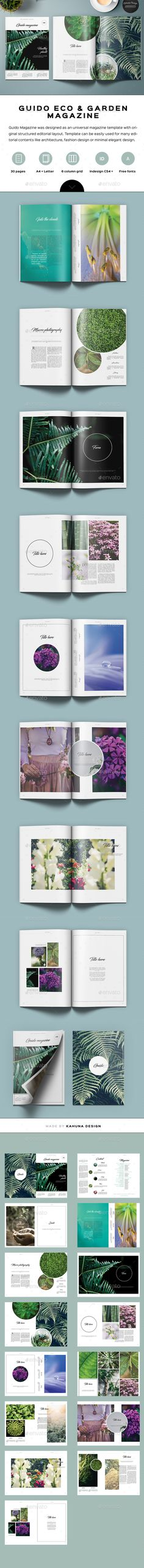 Guido Eco Garden Magazine  — InDesign Template • Only available here ➝…