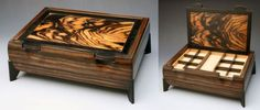Ebony and Macassar Ebony jewelry box
